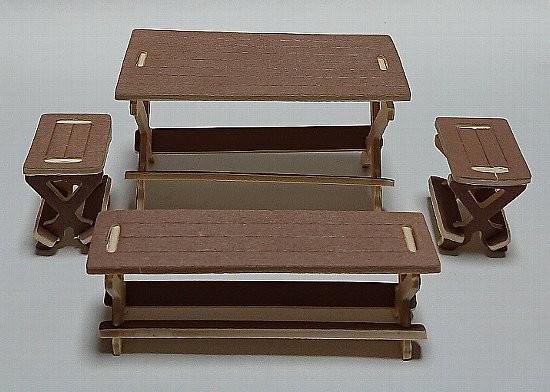 ウッドクラフト アウトドアシリーズ テーブルとチェア