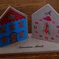 リンネル ムーミン×サマンサ モスモス ウッド調がおしゃれなムーミンハウス型 置き時計