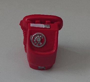 Photos: ウッドクラフトシリーズ ミニチュア小物 赤電話