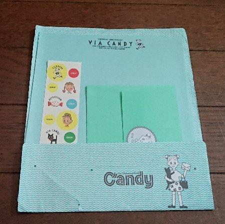 Candy1987年7月創刊号 上田三根子のときめきレターセット