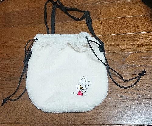 otona MUSE ムーミンとリトルミイの刺繍ワッペン付き ボアポシェット
