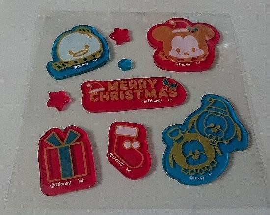 ディズニー ツムツム クリスマス ジェルステッカー