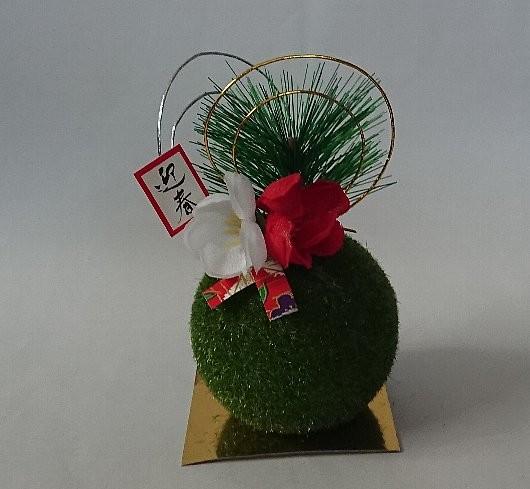 苔玉飾り(お正月飾り)