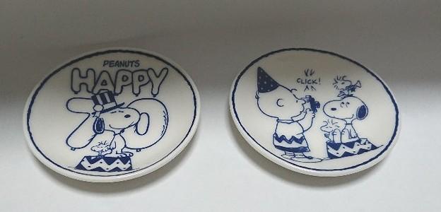 Photos: ESSE スヌーピーの豆皿2枚セット