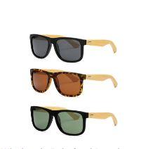 PL 7971 - Wholesale Bamboo Polarized Lens Sunglasses