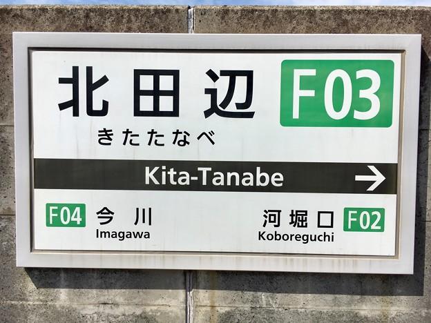 北田辺駅 Kita-Tanabe Sta.