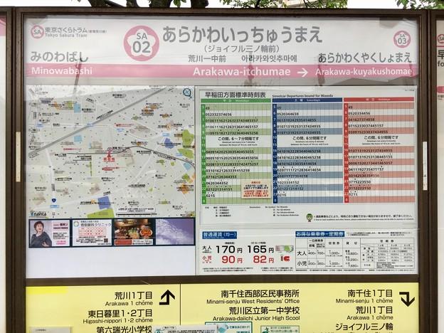 荒川一中前停留場 Arakawa-itchumae Sta.