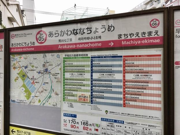 荒川七丁目停留場 Arakawa-nanachome Sta.