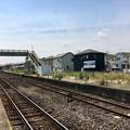 丹荘駅 使用停止となった2番線ホーム