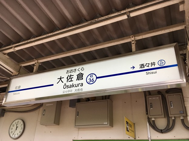 大佐倉駅 Osakura Sta.