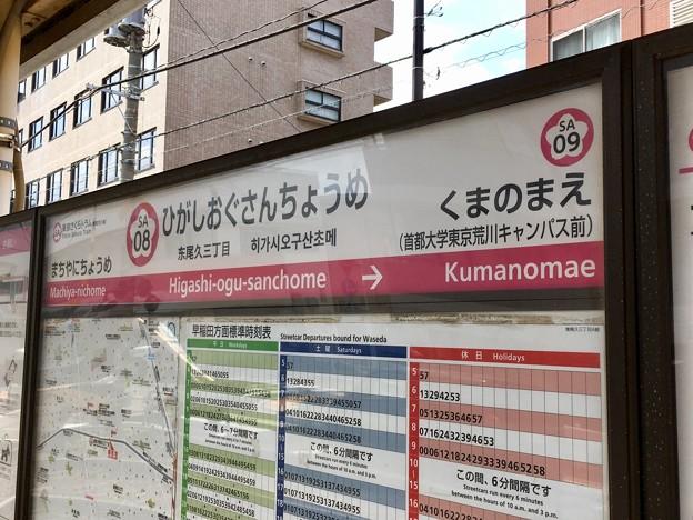 東尾久三丁目停留場 Higashi-ogu-sanchome Sta.