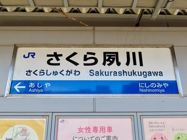 さくら夙川駅 Sakurashukugawa Sta.