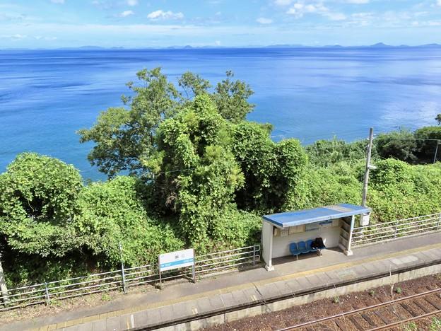 串駅 登り坂の上から見た景色
