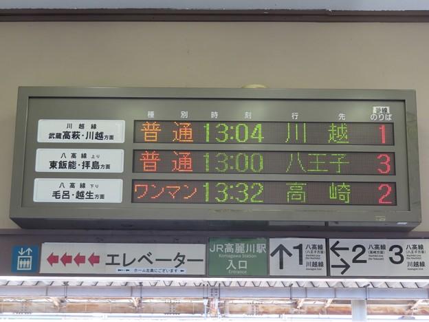 Photos: JR東日本 高麗川駅の発車標