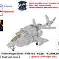 【ガンポッド付・固定翼形態】複座 VFH-10G オーロラン