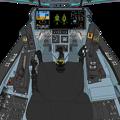 (Block 45 新型単発スロットル)「可変戦闘機オーロラン」コックピット