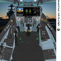 (夕暮れ)CVN-78甲板上のVFH-10G オーロラン