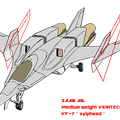 Photos: 〔外翼折り畳み〕SAAB 可変戦闘機 VF-7N シルフィード