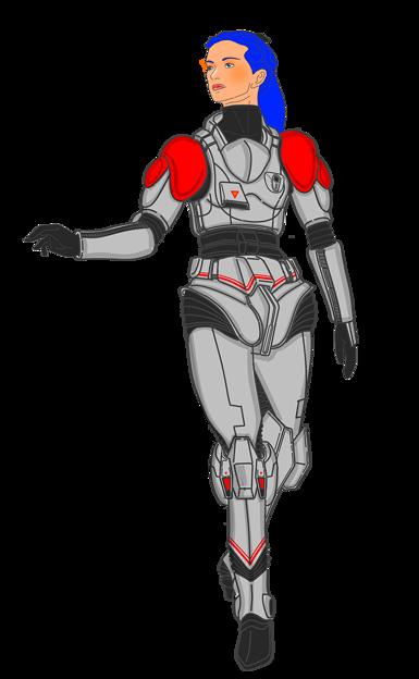 宇宙機甲団・耐圧・耐GスーツF型(女性用実写版