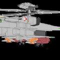 ジャイロダイン形態 可変戦闘機 VFH-10B オーロラン TLM-1 ミサイルコンテナx2