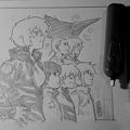 輝度大・リミックス・シリーズ登場人物の群像スケッチ(インスタグラム Elmer Damasoさん