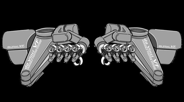 『ダビンチ - II 』遠隔〔機械手指〕操作機構