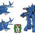 可変戦闘機 VFH-10オーロラン 海兵隊仕様・3形態図