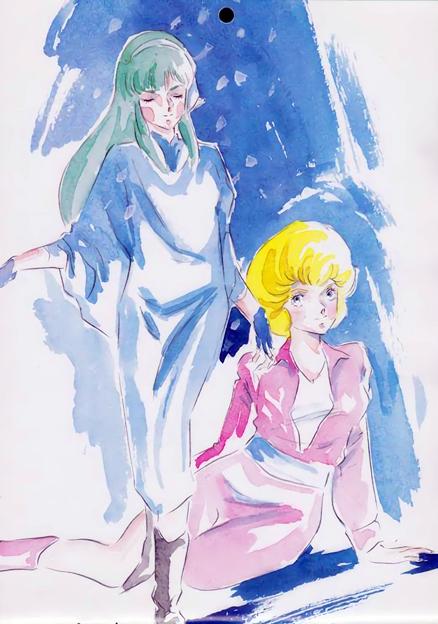 アニメディア1984年7月号付録カレンダー 超時空騎団サザンクロス 新井 豊