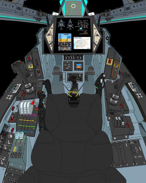 Block 02 可変戦闘機「VFH-10 B オーロラン」 操縦席コンソール