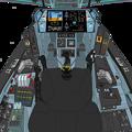 Block 2.5 〔正面の防弾ガラスを装着〕可変戦闘機『 VFH-10 オーロラン』 操縦席コンソール
