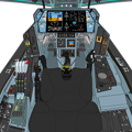 Block 03-A 〔正面の防弾ガラスを装着〕可変戦闘機『VFH-10C オーロラン』操縦席コンソール