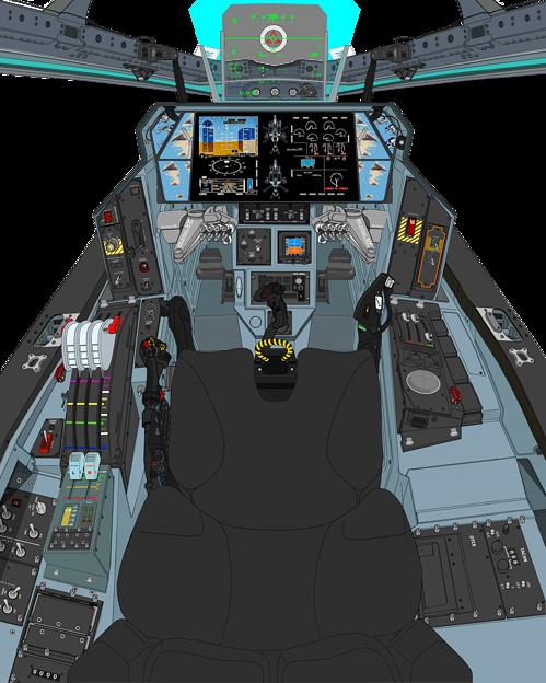 Block 03-B 〔正面の防弾ガラス撤去〕可変戦闘機『 VFH-10Cオーロラン』 操縦席コンソール
