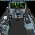 Block 44 可変戦闘機「VFH-10D オーロラン」操縦席コンソール