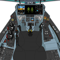Photos: Block 45-A〔旧型・二連スロットル〕可変戦闘機「VFH-10G オーロラン」操縦席コンソール(「ダヴィンチII」遠隔操作システム展開状態)