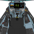 Photos: Block 45-B 〔新型・二連スロットル〕可変戦闘機 VFH-10G オーロラン 操縦席コンソール「ダヴィンチII」遠隔操作システム展開状態
