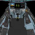 Block 45-B 〔新型・二連スロットル〕可変戦闘機 VFH-10G オーロラン 操縦席コンソール「ダヴィンチII」遠隔操作システム展開状態