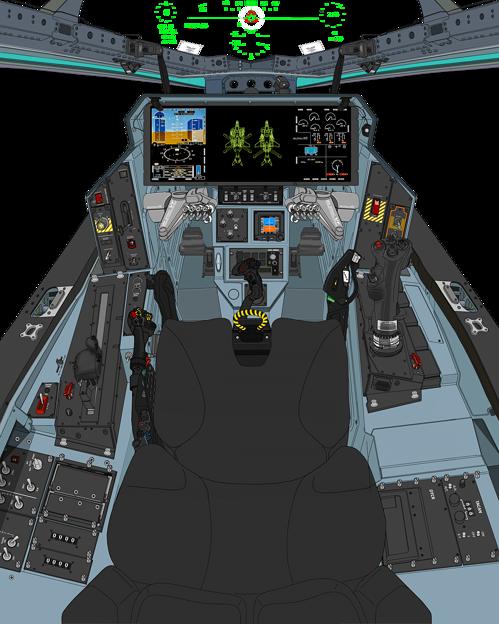Photos: Block 45-C2 〔新・単一スロットル〕可変戦闘機 VFH-10Gオーロラン操縦席コンソール da Vinci II 遠隔操作システム展開