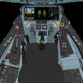 Block 45-C2 〔新・単一スロットル〕可変戦闘機 VFH-10Gオーロラン操縦席コンソール da Vinci II 遠隔操作システム展開