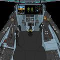 Block 45-C1 〔新・単一スロットル〕可変戦闘機「VFH-10G オーロラン」操縦席コンソール da Vinci II 遠隔操作システム格納
