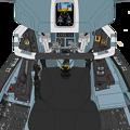 Block 50-B 〔Block 45-C を基盤とする〕可変戦闘機 VFH-10H「オーロラン」操縦席コンソール