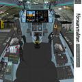 SAAB社(Block 2.5)「VFH-12 スーパーオーロラン」操縦席コンソール