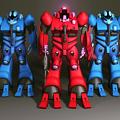 Photos: 超時空騎団サザンクロス 初期型バイオロイド3種