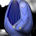 【影付き】超時空騎団サザンクロス2020 電子弦楽器「リーヴ・フィセル」(レーザーハープ)&「演奏制御卓付き肘掛椅子」一式セット