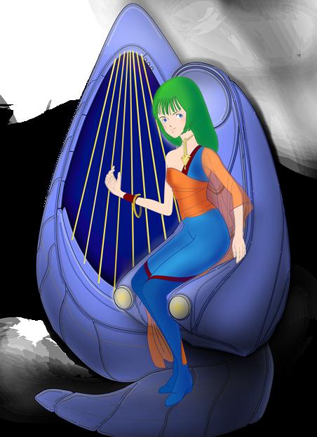 【影付き】超時空騎団サザンクロス2020「ムジカ・ノヴァ」と電子弦楽器「リーヴ・フィセル」(レーザーハープ)