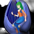 Photos: 【影付き】超時空騎団サザンクロス2020「ムジカ・ノヴァ」と電子弦楽器「リーヴ・フィセル」(レーザーハープ)