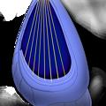 【影付き】超時空騎団サザンクロス2020 電子弦楽器「リーヴ・フィセル」(レーザーハープ)&「演奏制御卓付き肘掛椅子」抜き・弦楽器本体のみ