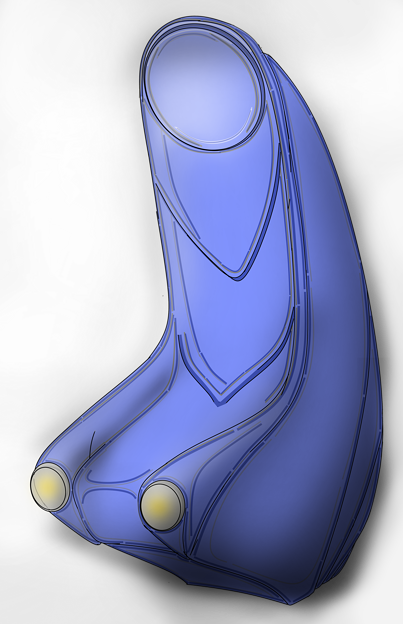 【影付き】超時空騎団サザンクロス2020「演奏制御卓付き肘掛椅子」・電子弦楽器「リーヴ・フィセル」(レーザーハープ)専用