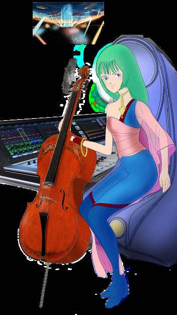 音楽プロデューサー「ムジエ」とデジタル・ミキサー Vi7000,『ムジカ』と電子レーザー弦楽器「レーヴェ・フィセル」