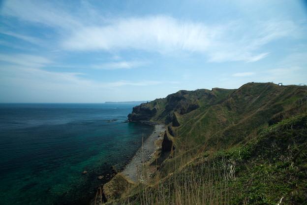 神威岬の奇岩