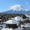 忍野の雪景色。